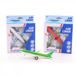 Lietadlo kovový model so svetlom a zvukom