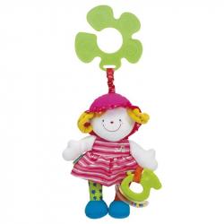 Veselá bábika s úchytkou na kočík - JULIA