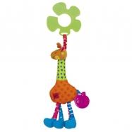 Úchyt na kočárek - žirafa Igor v displeji po 12 ks