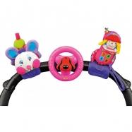 3 veselé hračky na přichycení suchým zipem pastelové barvy