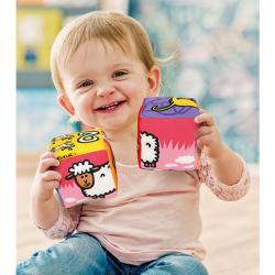 Zábavné textilné kocky - Zvieratká
