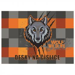 Desky na číslice vlk