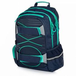 Študentský batoh OXY Šport PASTEL LINE green