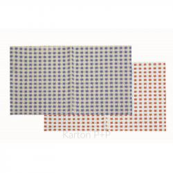 Ubrus do výtvarné výchovy 65x50cm červeno-bílé kostky 7-497