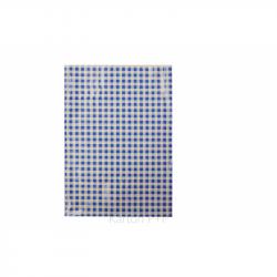 Obrus do výtvarnej výchovy 65x50cm modro-biele kocky 7-498