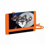 Detská textilná peňaženka vlk