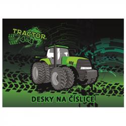 Dosky na číslice traktor