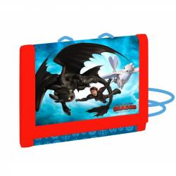 Detská textilná peňaženka Ako vycvičiť draka