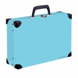 Kufrík lamino hranatý podkúvanie PASTELINI modrá