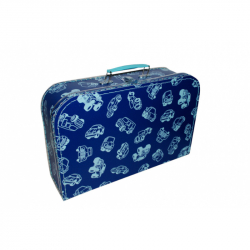 Kufřík modrý s autíčky 35 cm