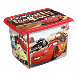 Box na hračky Cars 20 l - červená