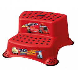 Stolička - schodíky s protišmykovou funkciou - Cars II - červené
