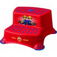 Stolička - schůdky s protiskluzovou funkcí - Fireman Sam - červené