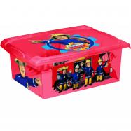Box Fireman Sam 10 l - červený