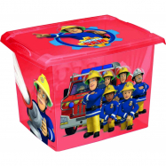 Box na hračky Fireman Sam  20,5 l - červená