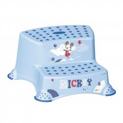 Stolička - schodíky s protišmykovou funkciou - Mickey Mouse - modrá