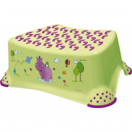Stolička, schůdek s protiskluzovou funkcí  - Hippo - limetka