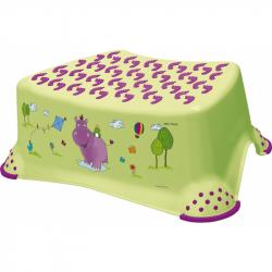 Stolička, schodík s protišmykovou funkciou - Hippo - limetka
