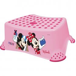 Stolička, schodík s protišmykovou funkciou - Minnie - ružová