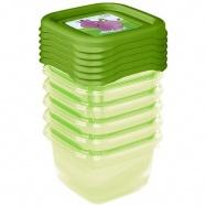 Súprava plastových škatuliek Hippo 0,1l - 6 ks