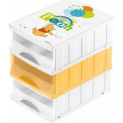 Boxy na hračky - súprava 3 šuplíkov MACKO PÚ