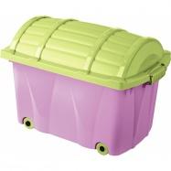 Plastový box na kolečkách - 42l - fialový