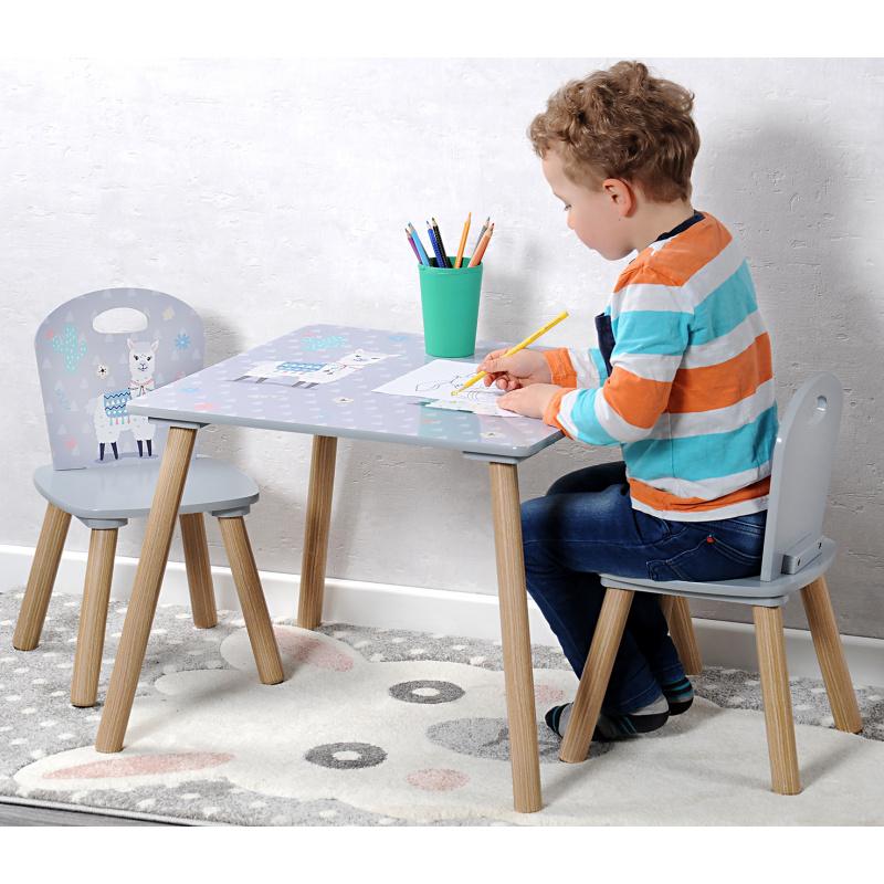 Detský stôl s stoličkami Lama