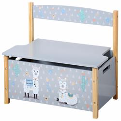 Dětská lavice s úložným prostorem Lama
