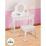 KidKraft stredný kozmetický stolček so stoličkou