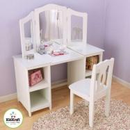 KidKraft Toaletka dla dziewczynek Deluxe z krzesełkiem