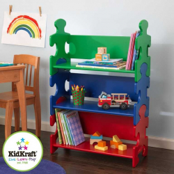 KidKraft barevná polička Puzzle