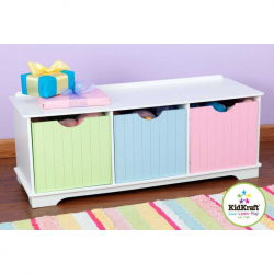 KidKraft box na hračky - farebná lavička