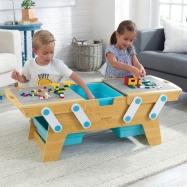 KidKraft Stôl na stavanie s boxami