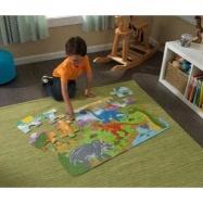 KidKraft velké papírové puzzle Dinosauři