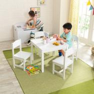 KidKraft Set stola a 4 stoličiek Farmhouse biele