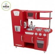Dřevěné hračky - KidKraft Kuchyňka Red Vintage - červená