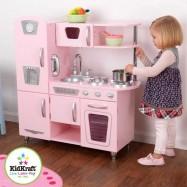 Dřevěné hračky - KidKraft Kuchyňka Pink Vintage - růžová