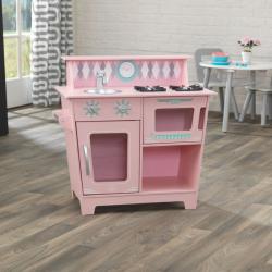 KidKraft dětská klasická kuchyňka růžová