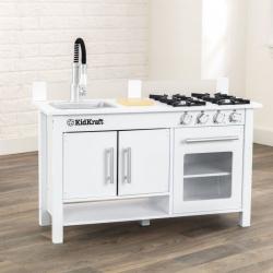 KidKraft moderní kuchyňka Little Cook bílá