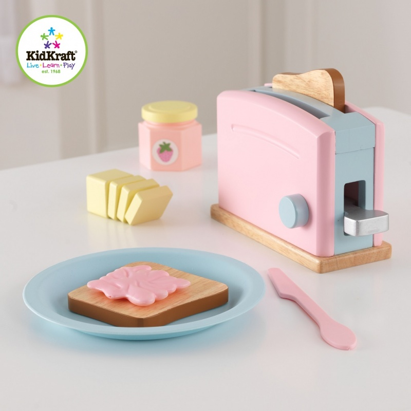 Kidkraft Espresso Toster Set Pastelowy