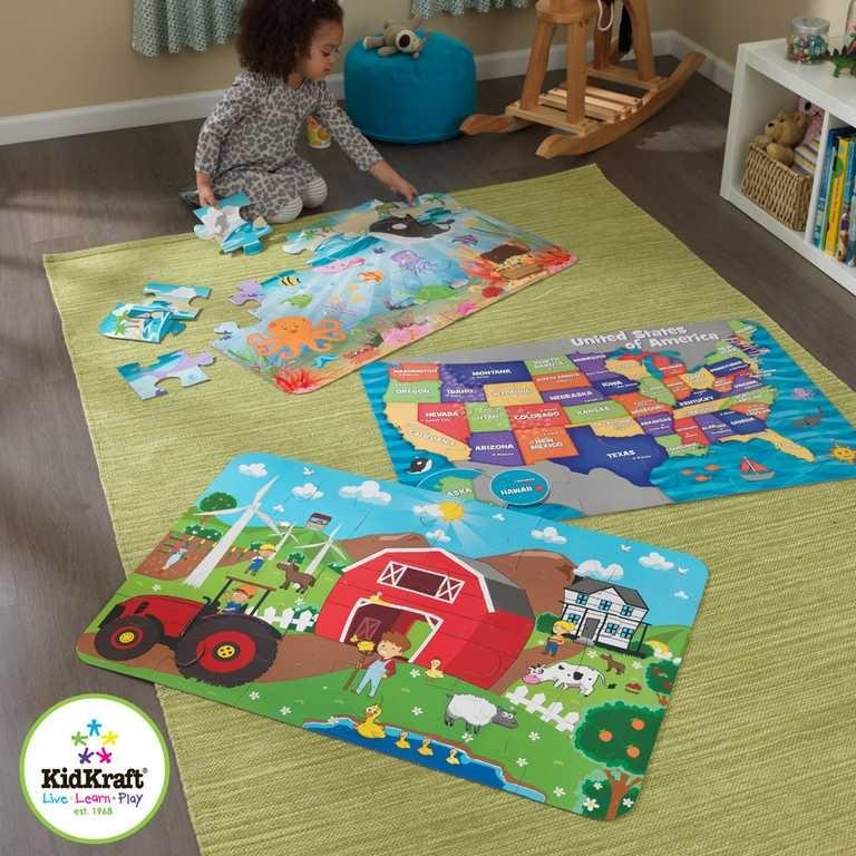 KidKraft velké papírové puzzle Farma