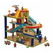 Kidkraft dřevěná garáž s myčkou a příslušenstvím