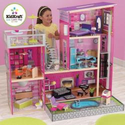 Drevené hračky - KidKraft domček pre bábiky Uptown