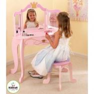 KidKraft kozmetický stolík so stoličkou Princezná