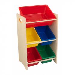 KidKraft box na hračky - Úložná police  s 5 boxy