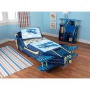 KidKraft drevená detská posteľ lietadlo