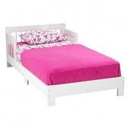 KidKraft klasická dřevěná dětská postel bílá