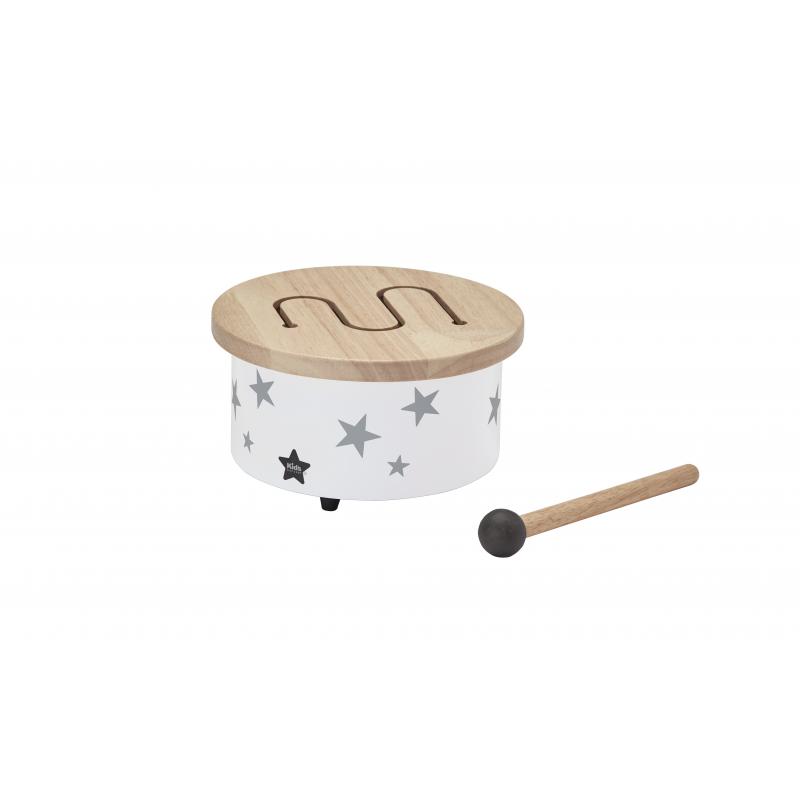 Mini bubínek dřevěný White