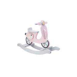 Houpací skútr dřevěný Pink White