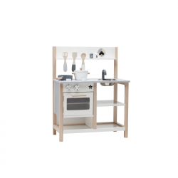 Kuchynka drevená Natural White Bistro